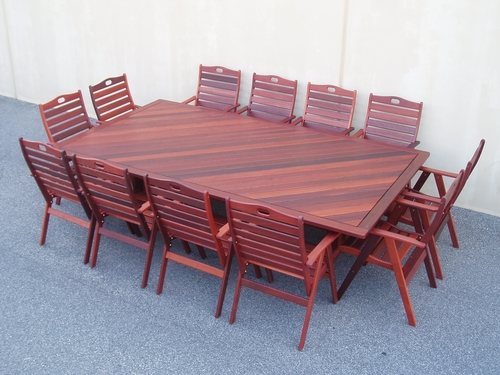 12 x seater wanaka table timber outdoor furniture perth for 12x table