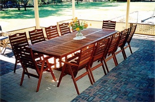 Fairlie table 12 seater timber outdoor furniture perth for 12 seater outdoor table and chairs