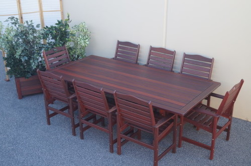 Guildford 8 x Seater Jarrah Table with Ryecroft Chairs  : Guildford8xSeaterTablewithRycroft from www.timberlivingoutdoors.com.au size 500 x 331 jpeg 85kB