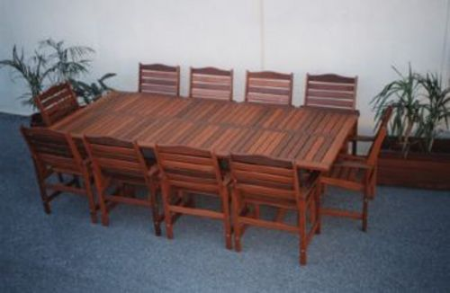 Fairlie 10 seater with Lukin Chairs - Timber Outdoor ...