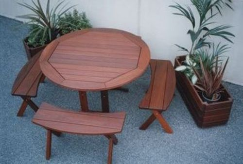 elmsfield picnic setting timber outdoor furniture perth