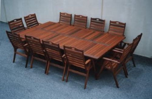 Fairlie 12 X Seater Table Timber Outdoor Furniture Perth