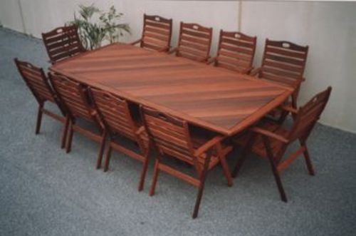 Wanaka 10 X Seater Table Timber Outdoor Furniture Perth