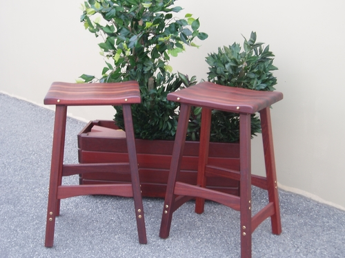 Pilbara Jarrah Bar Stools Timber Outdoor Furniture Perth