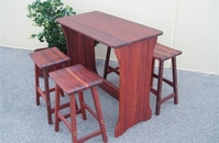 Pilbara Jarrah Bar And Stools Timber Outdoor Furniture Perth