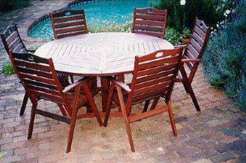 tekapo round table timber outdoor furniture perth