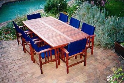 Fairlie table 8x seater timber outdoor furniture perth for Outdoor furniture perth