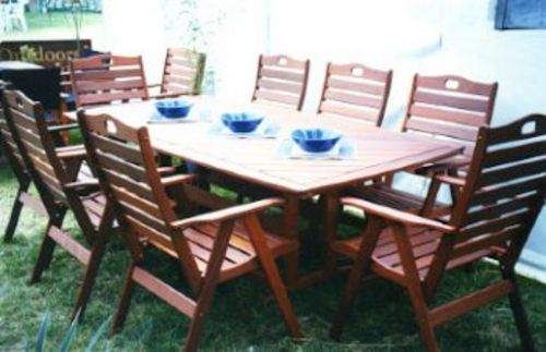 Wanaka table timber outdoor furniture perth for Outdoor furniture perth